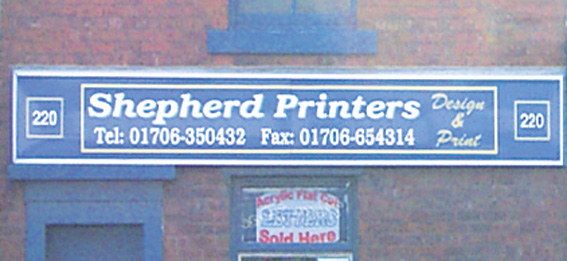 Shepherds shop sign