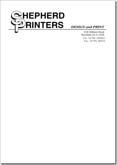 Letterhead Single Colour