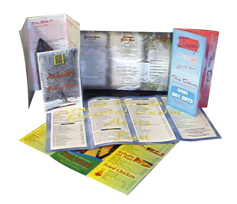 full colour menus